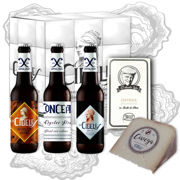 Pack Oyster Stout ostras queso La Cibeles